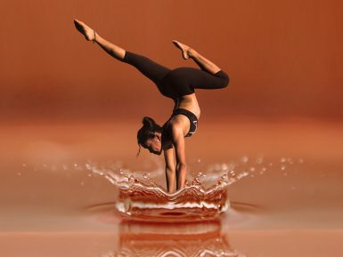 Vision after performing downward yoga pose